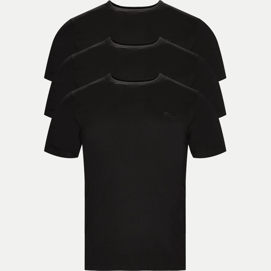 50325388 SHIRT SS RN 3P BM - 3-pak T-shirt - Undertøj - Regular - SORT - 1