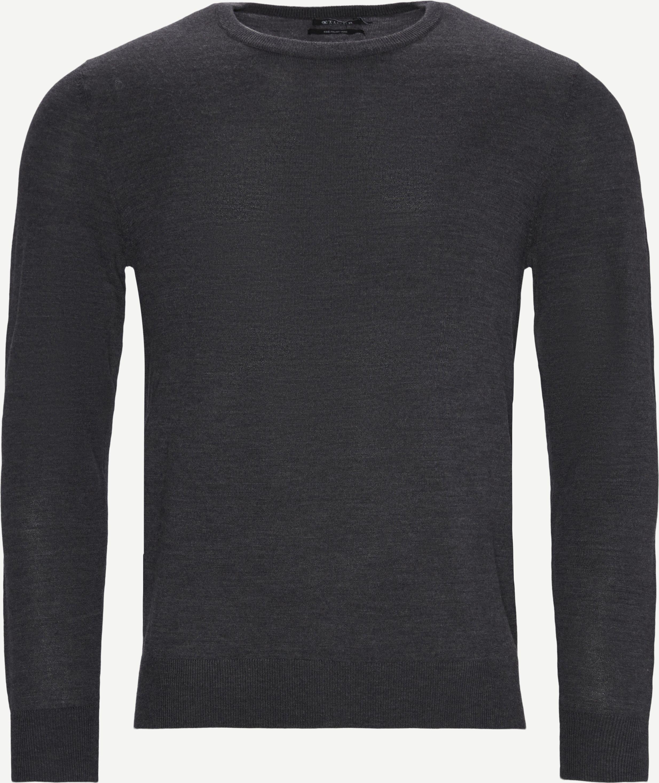Matias Striktrøje - Knitwear - Regular - Grey