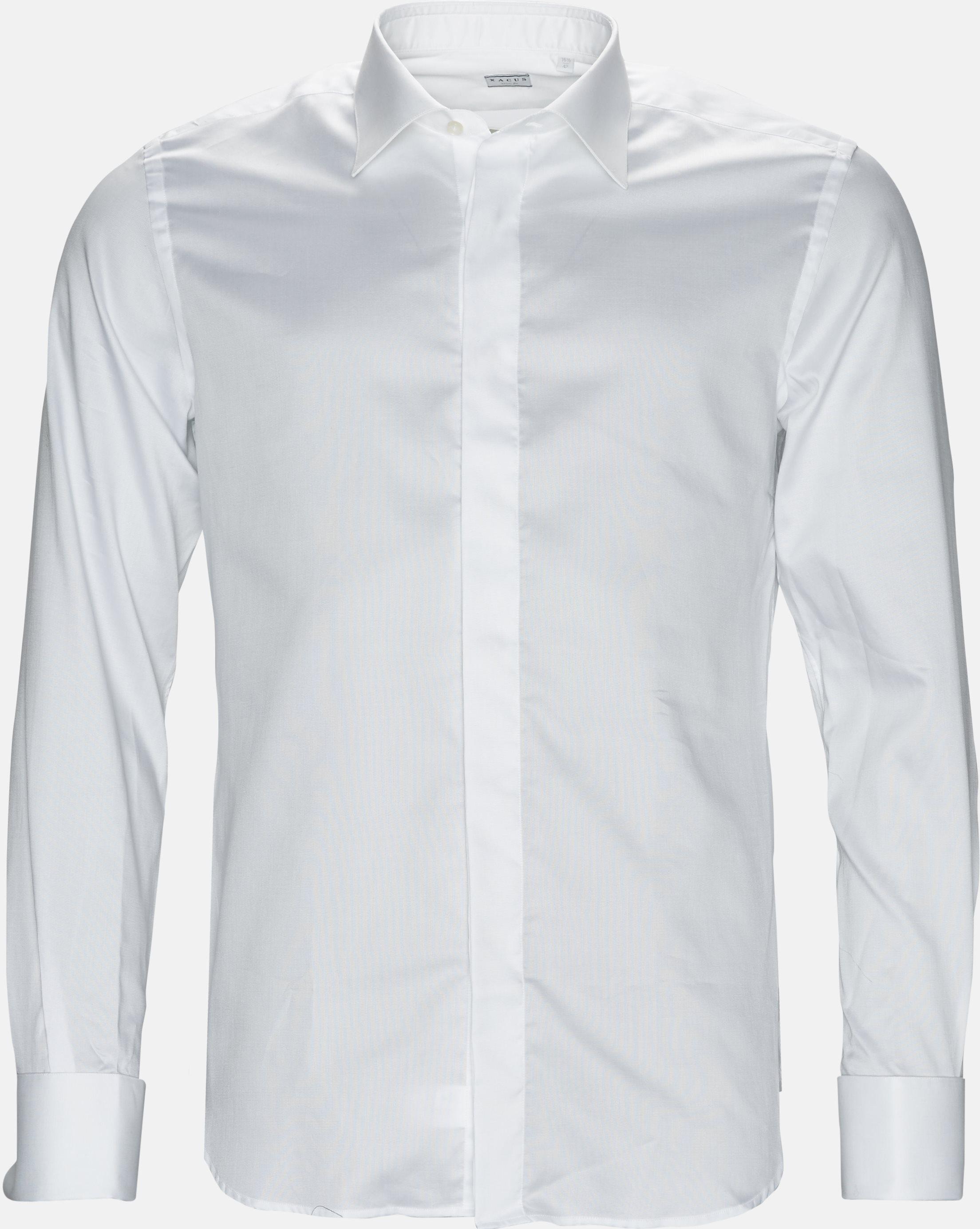 11277 644 skjorte - Skjorter - Slim - Hvid