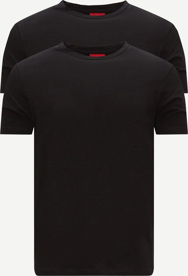 2-Pack Round T-shirt - T-shirts - Slim fit - Sort