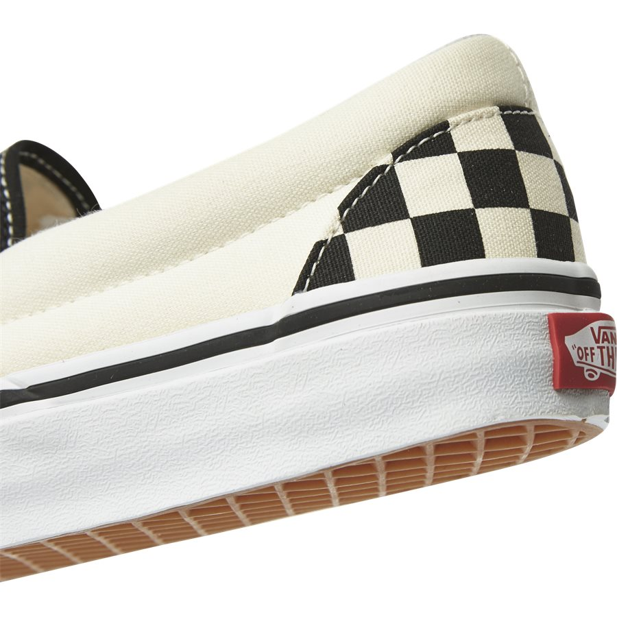 SLIP ON CHECK VEYEBWW - Shoes - SORT/HVID - 5