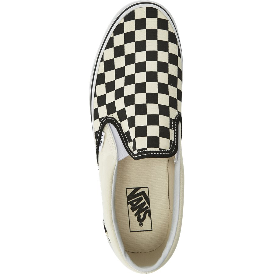 SLIP ON CHECK VEYEBWW - Shoes - SORT/HVID - 8