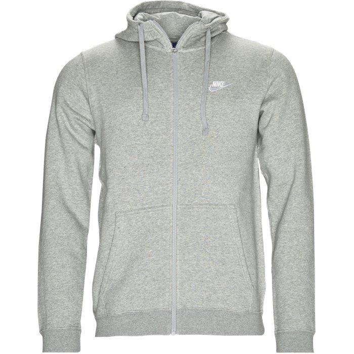 Nsw Hood Zip - Sweatshirts - Regular - Grå