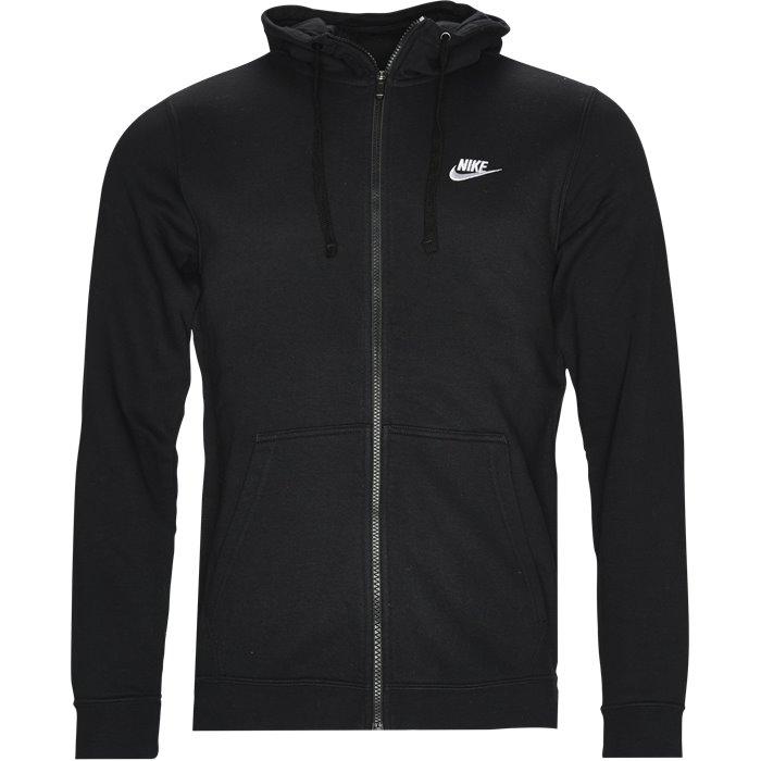Nsw Hood Zip - Sweatshirts - Regular - Sort