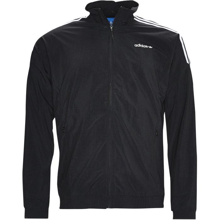 WOVEN TRACKTOP BK5923 Sweatshirts - Sweatshirts - Sort