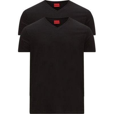 2-pak V-hals T-shirt Regular | 2-pak V-hals T-shirt | Sort