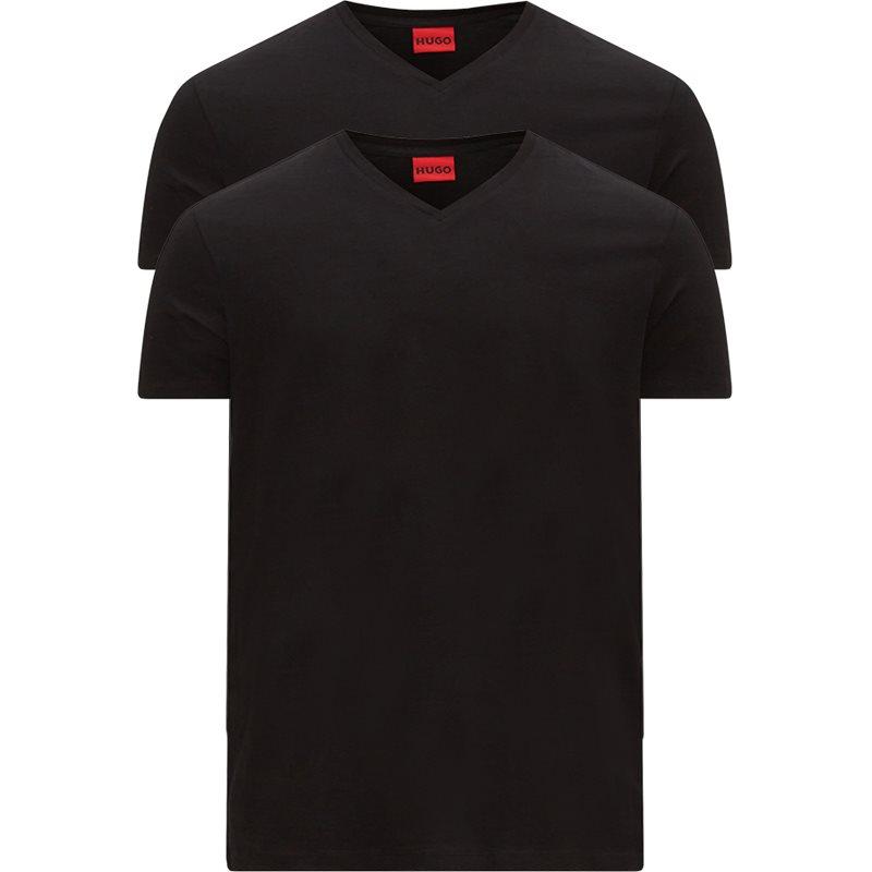 Hugo - 2-pak V-hals T-shirt