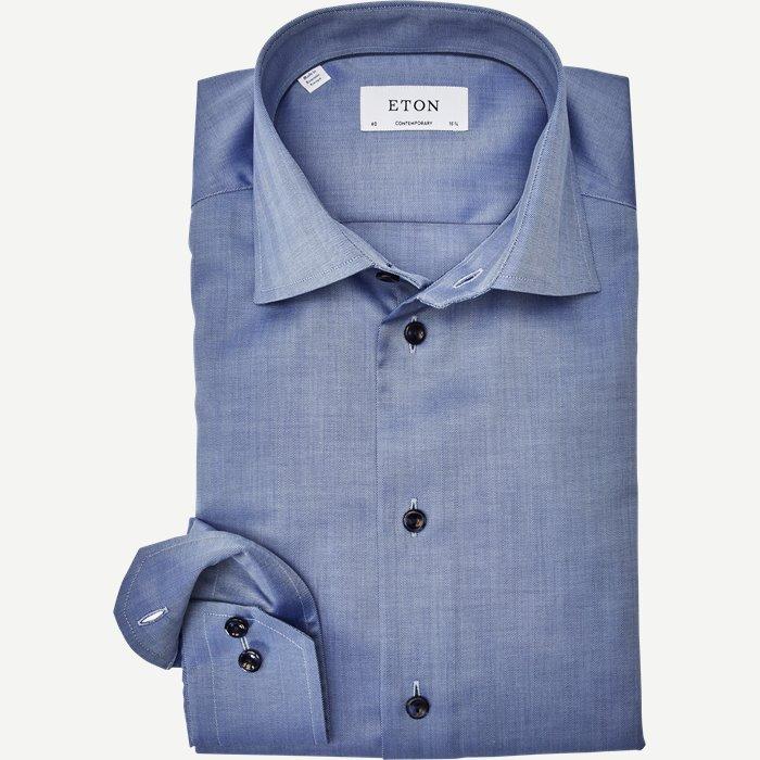 3010 Signature Twill Skjorte - Skjorter - Blå