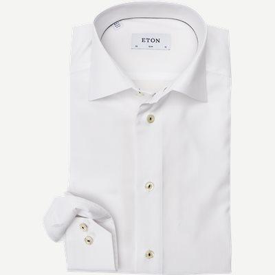 Poplin Skjorte Slim | Poplin Skjorte | Hvid