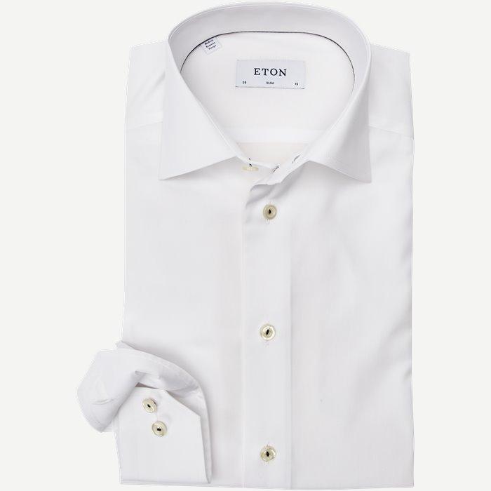 Poplin Skjorte - Skjorter - Slim - Hvid