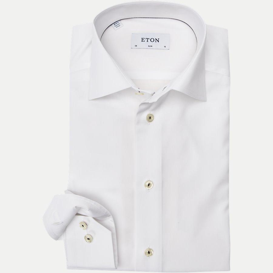 2567 - Poplin Skjorte - Skjorter - Slim - HVID - 1