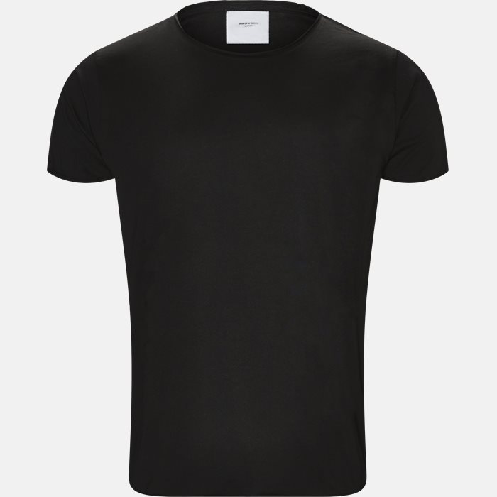 RAW EDGE t-shirt - T-shirts - Regular slim fit - Sort