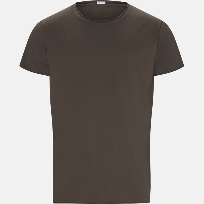 RAW EDGE t-shirt - T-shirts - Regular slim fit - Brun