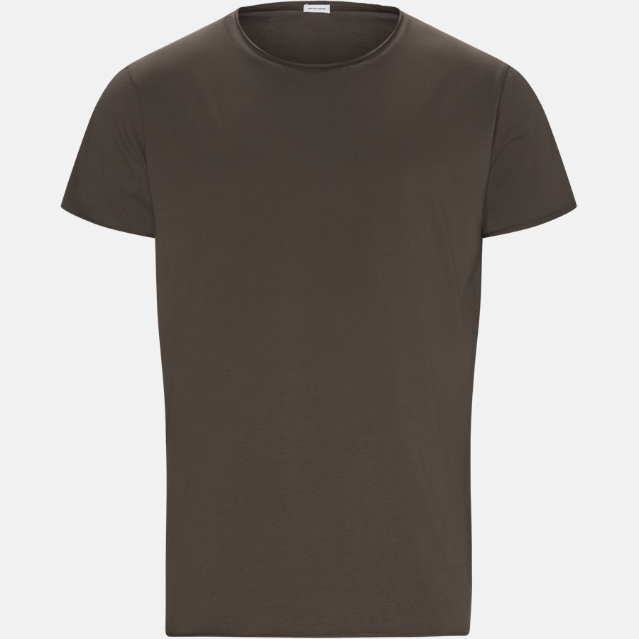 RAW EDGE - RAW EDGE t-shirt - T-shirts - Regular slim fit - BROWN - 1