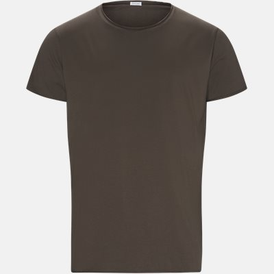 RAW EDGE t-shirt Regular slim fit | RAW EDGE t-shirt | Brun