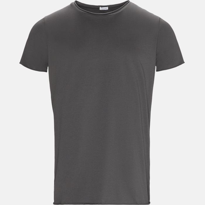 RAW EDGE t-shirt - T-shirts - Regular slim fit - Grå