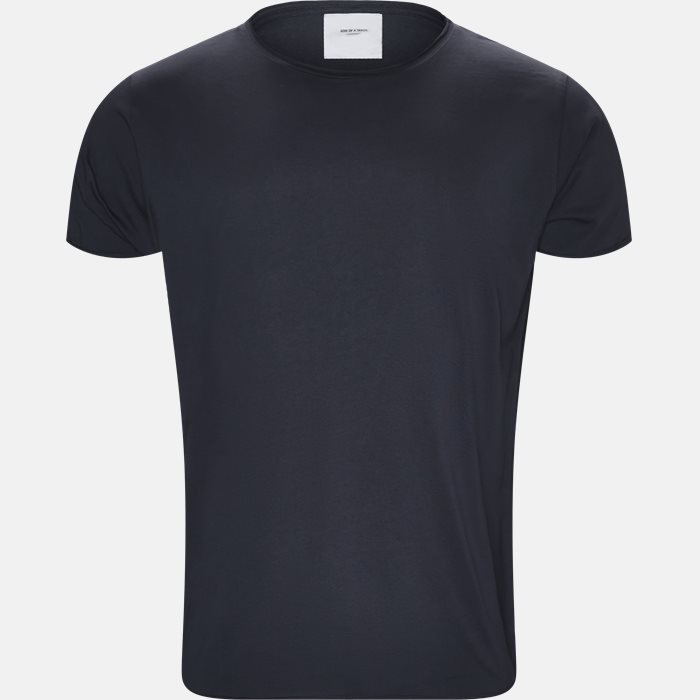 RAW EDGE t-shirt - T-shirts - Regular slim fit - Blå
