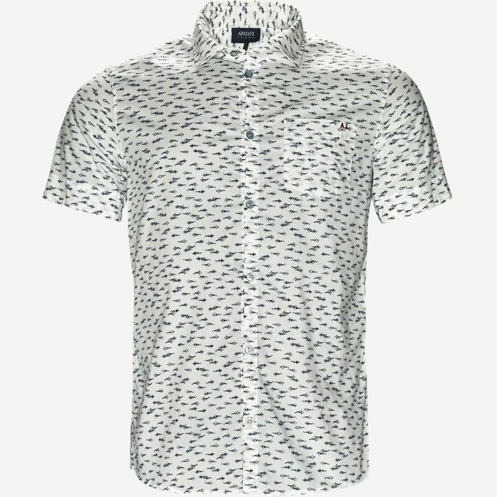 Kurzärmlige Hemden - Slim - Weiß