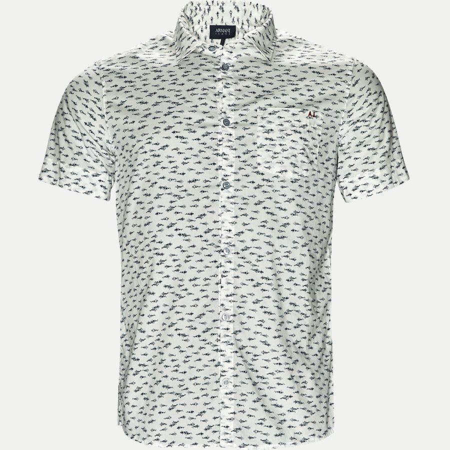 3Y6 C52 6N2SZ - Kortærmet Skjorte - Skjorter - Slim - HVID - 1