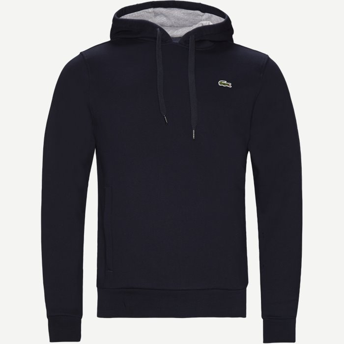 Hooded Fleece Tennis Sweatshirt - Sweatshirts - Regular - Blå