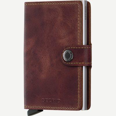 Mv Vintage Mini Wallet Mv Vintage Mini Wallet   Brun