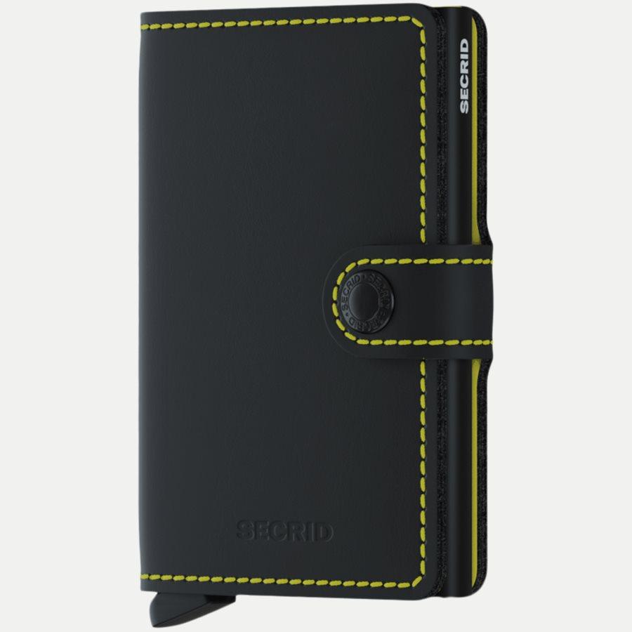 MM MATTE - Mm Matte Mini Wallet - Accessories - BLK/YELLOW - 1