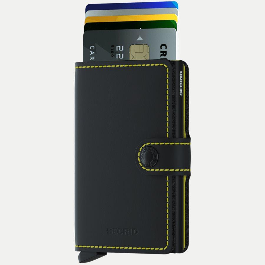 MM MATTE - Mm Matte Mini Wallet - Accessories - BLK/YELLOW - 2