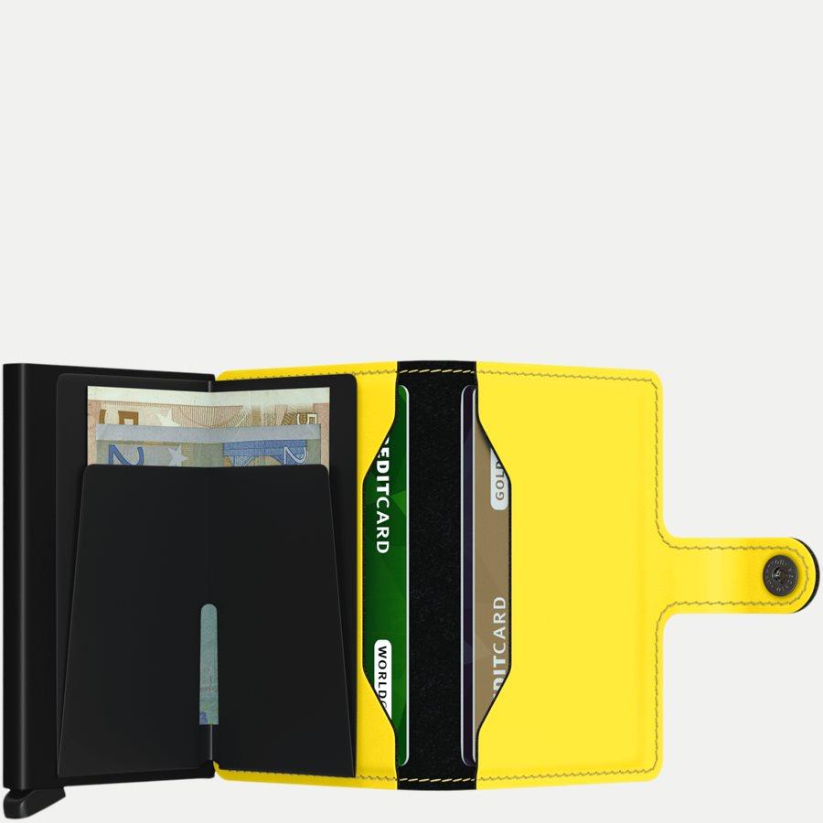 MM MATTE - Mm Matte Mini Wallet - Accessories - BLK/YELLOW - 3