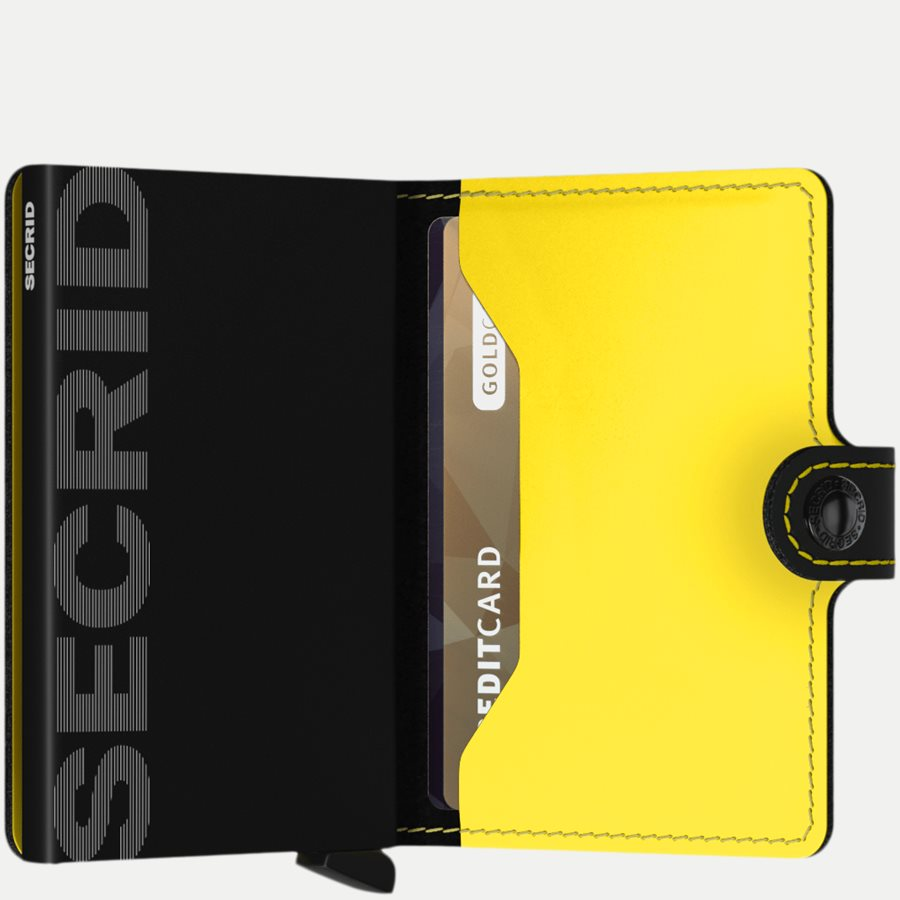MM MATTE - Mm Matte Mini Wallet - Accessories - BLK/YELLOW - 4