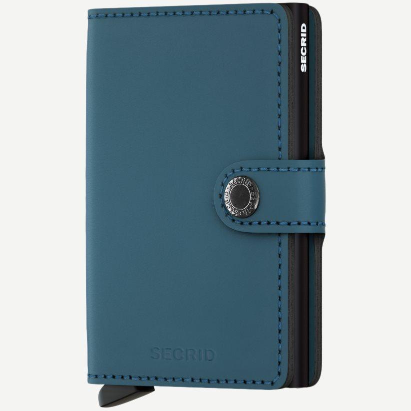Mm Matte Mini Wallet - Accessories - Blå