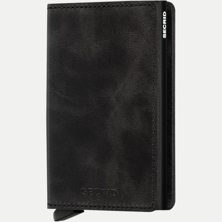 SV VINTAGE - Sv Vintage Slim Wallet - Accessories - BLACK - 1