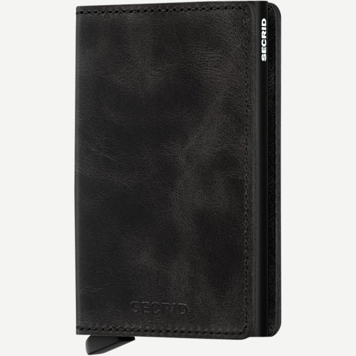 Sv Vintage Slim Wallet - Accessories - Sort