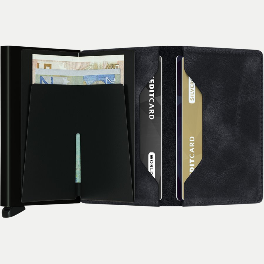 SV VINTAGE - Sv Vintage Slim Wallet - Accessories - BLACK - 3