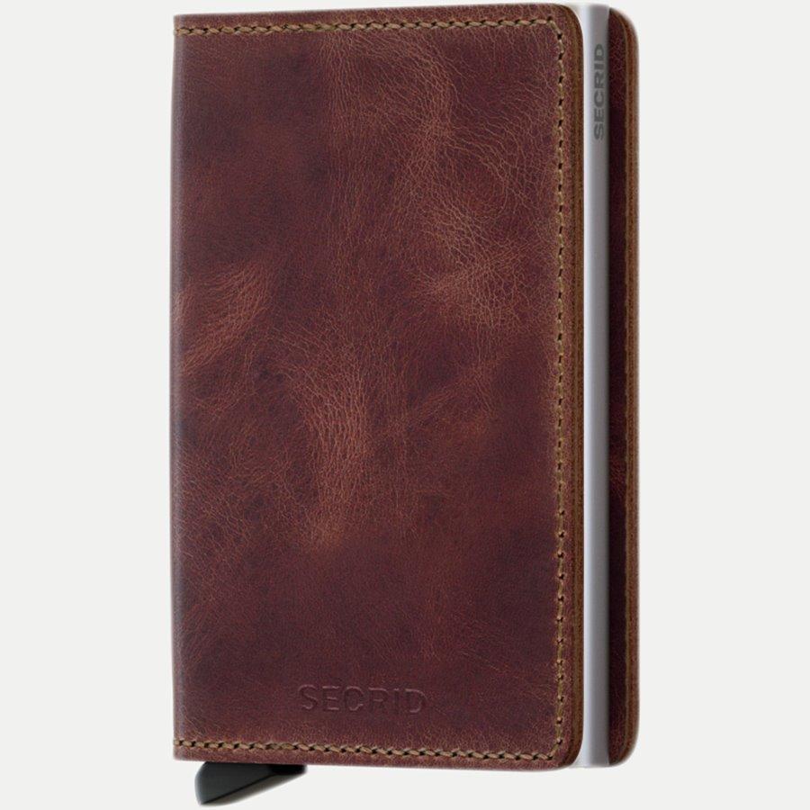 SV VINTAGE - Sv Vintage Slim Wallet - Accessories - BROWN - 1