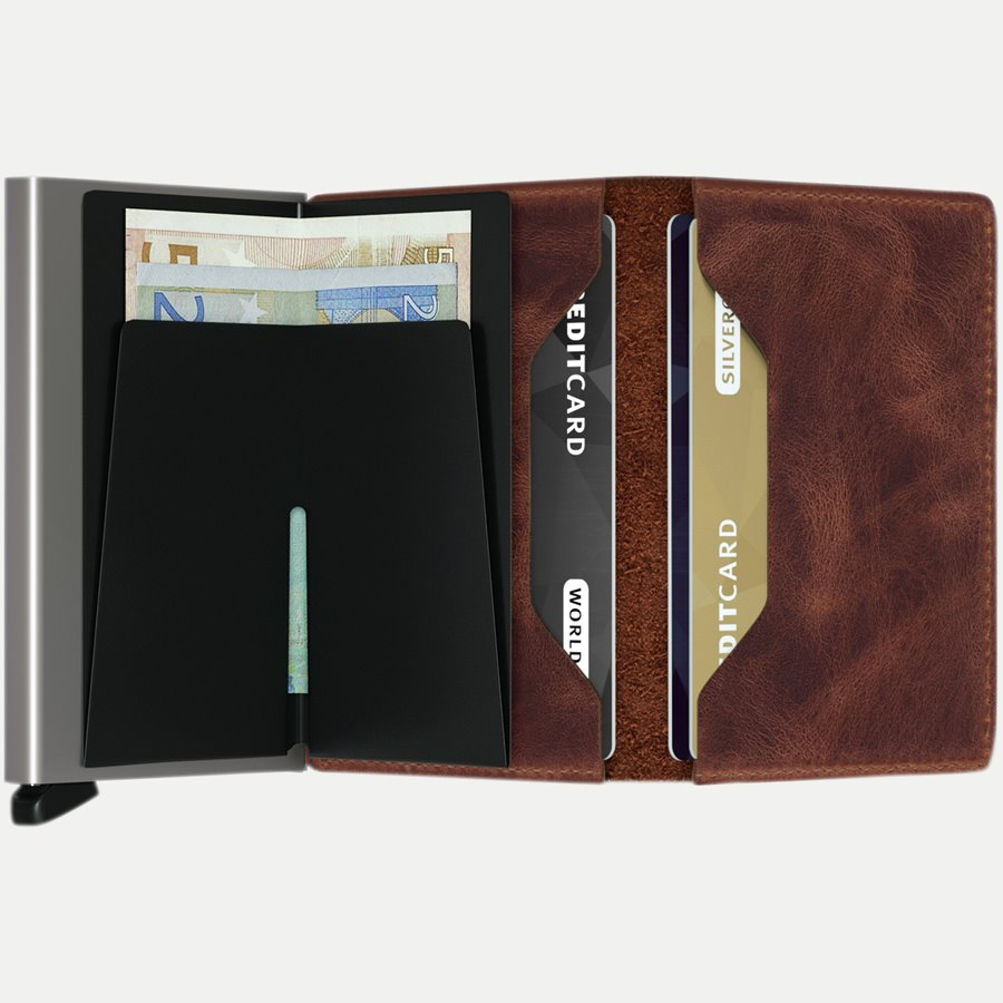 SV VINTAGE - Sv Vintage Slim Wallet - Accessories - BROWN - 3