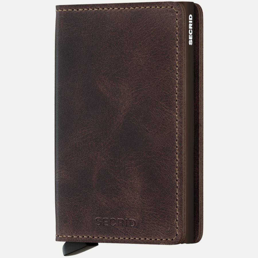 SV VINTAGE - Sv Vintage Slim Wallet - Accessories - CHOCOLATE - 1