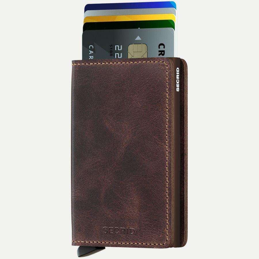 SV VINTAGE - Sv Vintage Slim Wallet - Accessories - CHOCOLATE - 2
