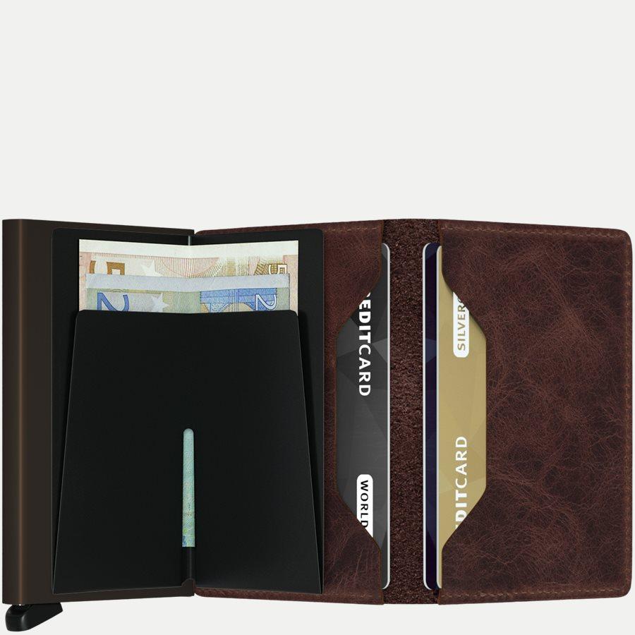 SV VINTAGE - Sv Vintage Slim Wallet - Accessories - CHOCOLATE - 3