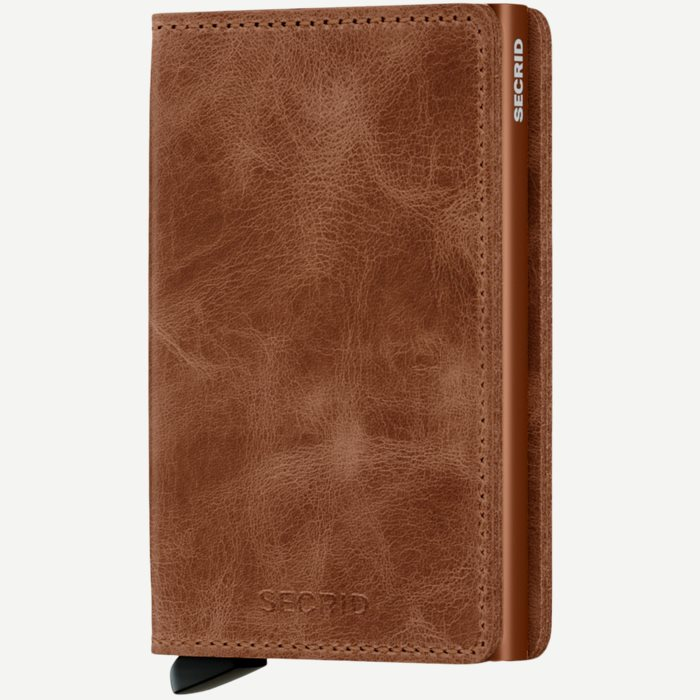 Sv Vintage Slim Wallet - Accessories - Brun