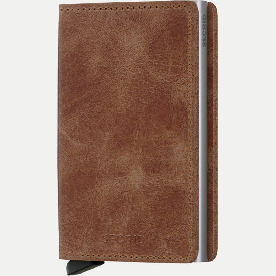 SV VINTAGE - Sv Vintage Slim Wallet - Accessories - COGNAC - 1