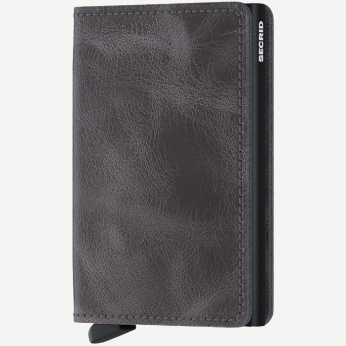 Sv Vintage Slim Wallet - Accessories - Grå