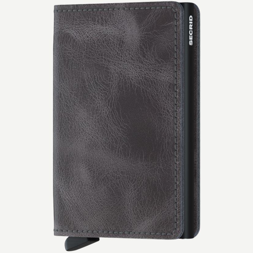 Sv Vintage Slim Wallet - Accessories - Grå