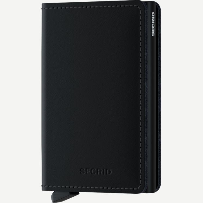 Sm Matte Slimwallet - Accessories - Sort