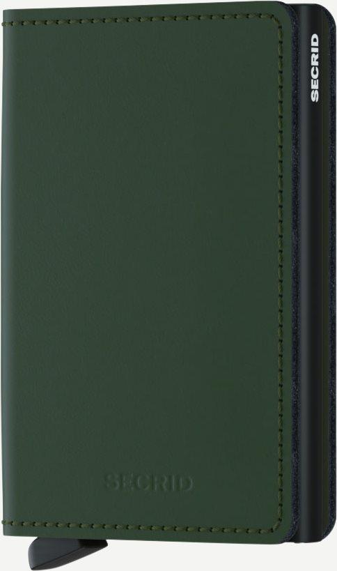 Sm Matte Slimwallet - Accessories - Grøn