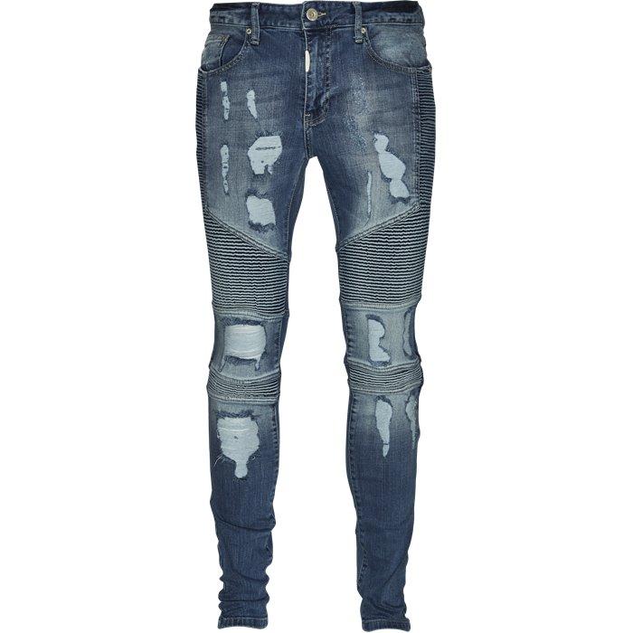 Biker Mid Blue - Jeans - Regular - Denim