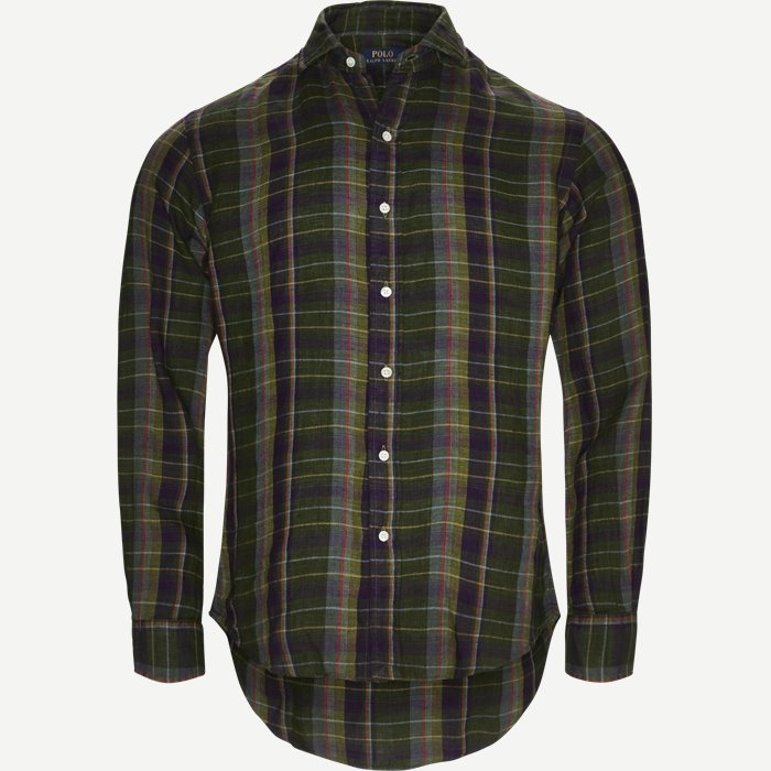 Check Linen Shirt - Skjorter - Regular - Multi