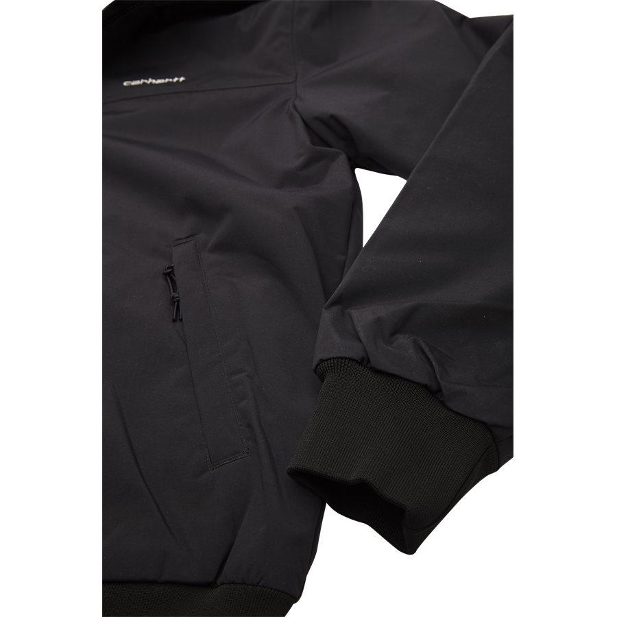 HOODED SAIL JACKET I022721 - Hooded Sail Jacket - Jakker - Regular - BLK/WHI - 4