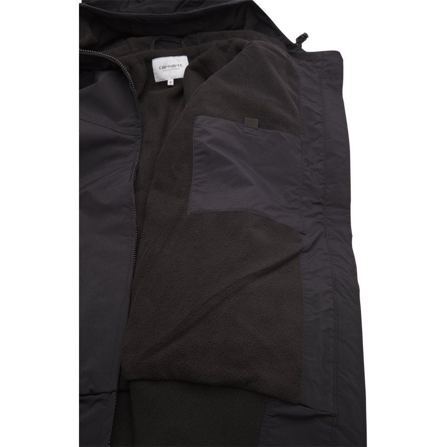 HOODED SAIL JACKET I022721. - Hooded Sail Jacket - Jakker - Regular - BLK/WHI - 5