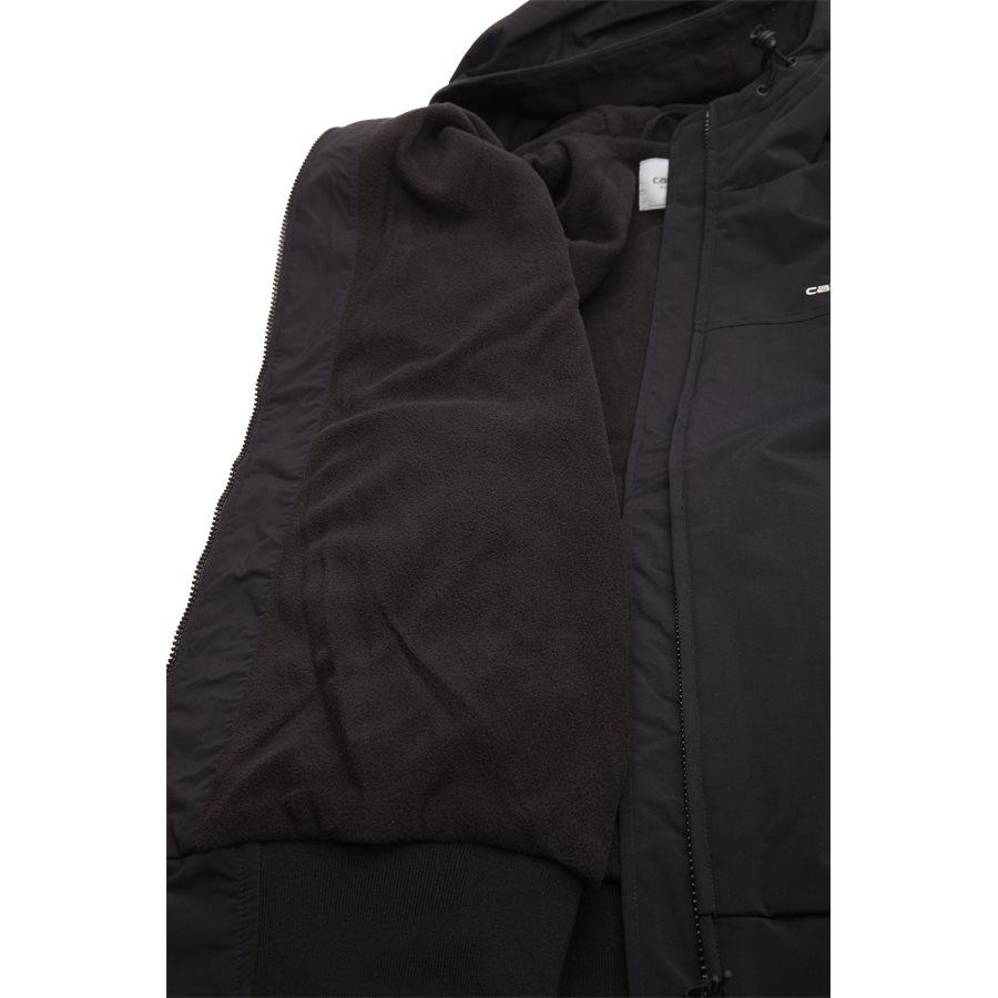HOODED SAIL JACKET I022721. - Hooded Sail Jacket - Jakker - Regular - BLK/WHI - 6