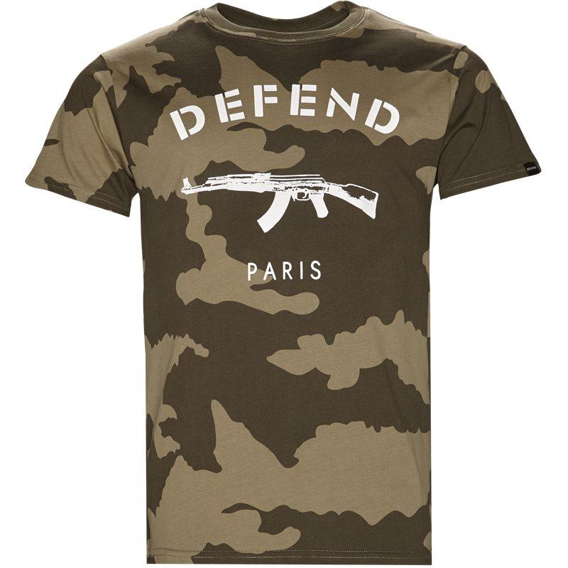 Billede af Defend Paris Paris Tee Camo Grøn